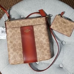 Coach Signature Messenger Bag and keychain